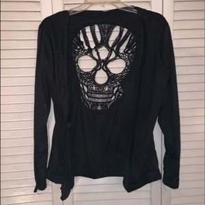 Cardigan with skull cutout back